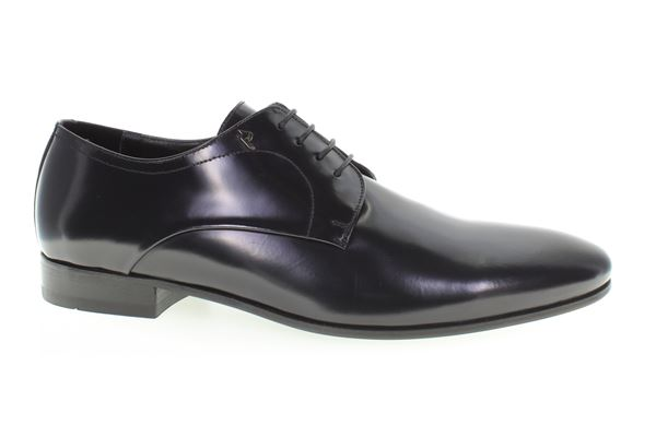 Lace made of semi-gloss dark blue leather, leather bottom. Ideal for the ceremony.
